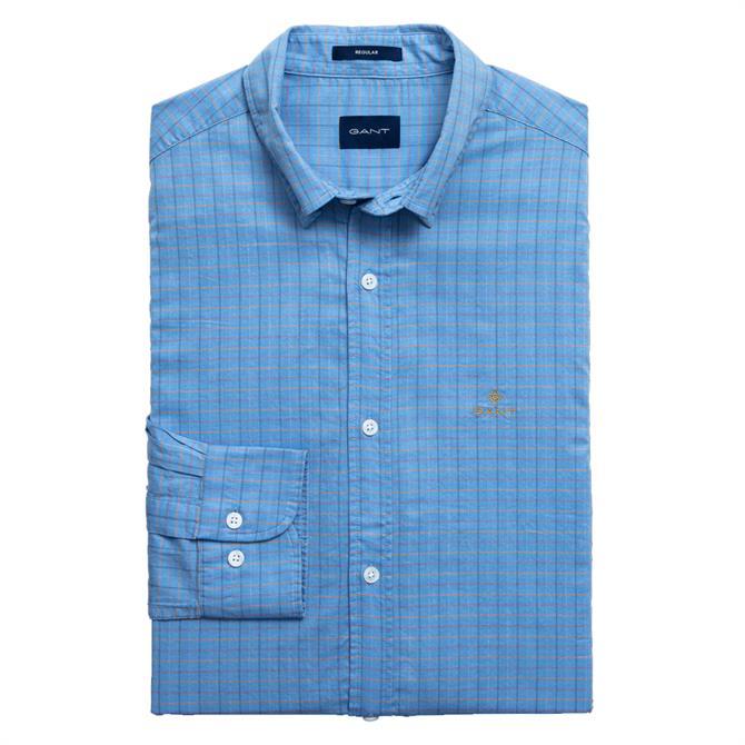 GANT Regular Fit Herringbone Tattersall Shirt