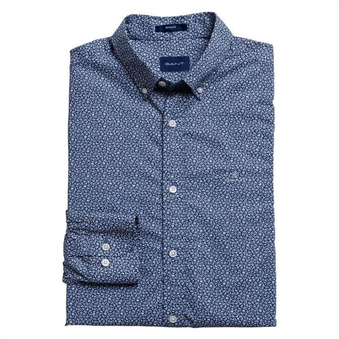 GANT Regular Fit Micro French Floral Print Shirt