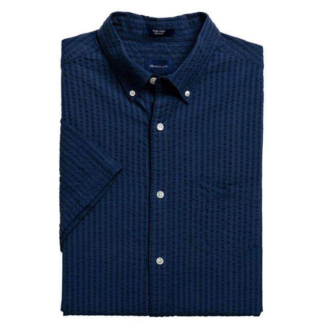 GANT Regular Fit Pure Prep Short Sleeve Structure Shirt