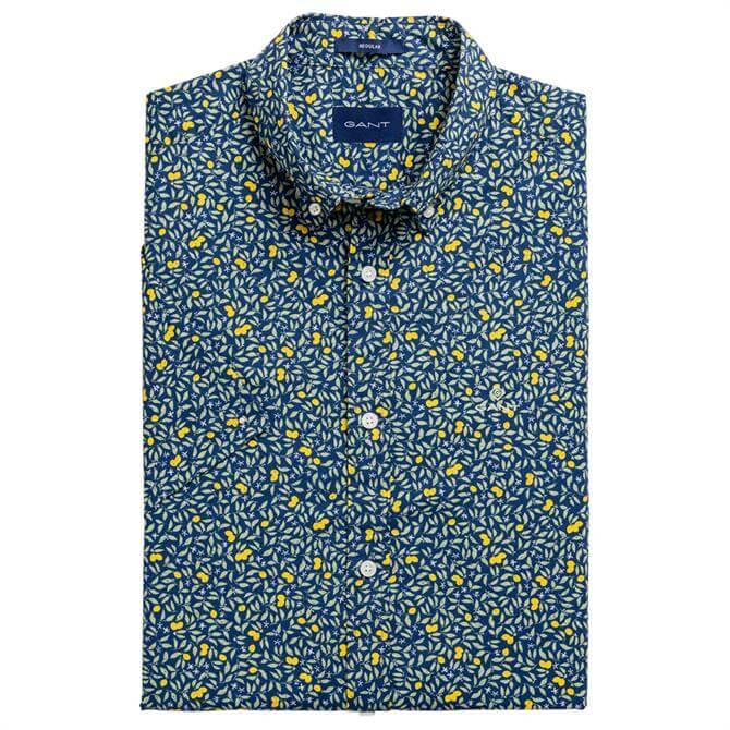 GANT Regular Fit Short Sleeve Lemonade Print Shirt