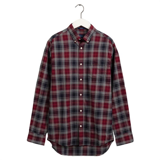 GANT Regular Fit Melange Herringbone Check Shirt