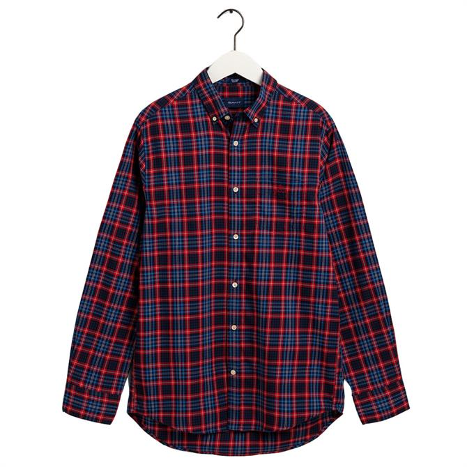 GANT Regular Fit Tech Prep Micro Tartan Oxford Shirt