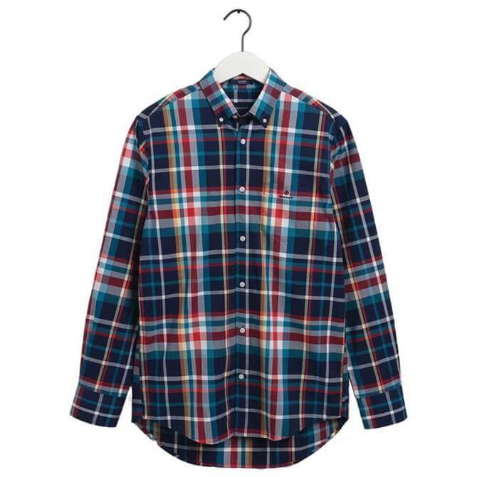 GANT Regular Fit Tech Prep Plaid Oxford Shirt