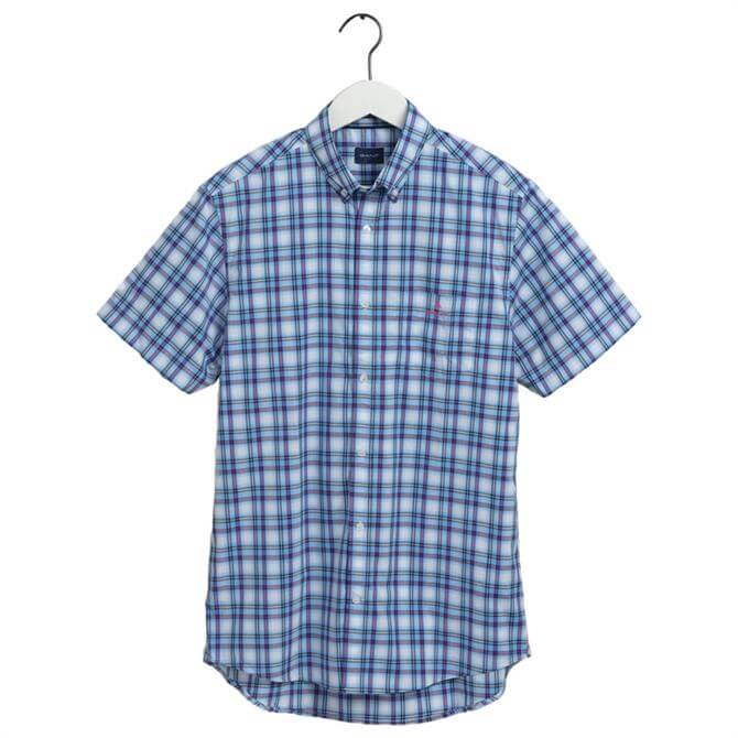 GANT Regular Fit Tech Prep Short Sleeve Multicolour Shirt
