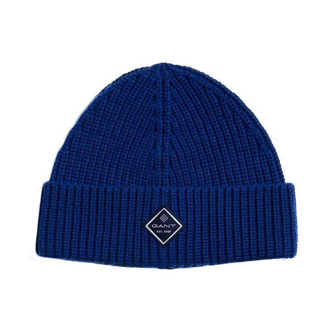 GANT Cotton Rib Knit Beanie Hat