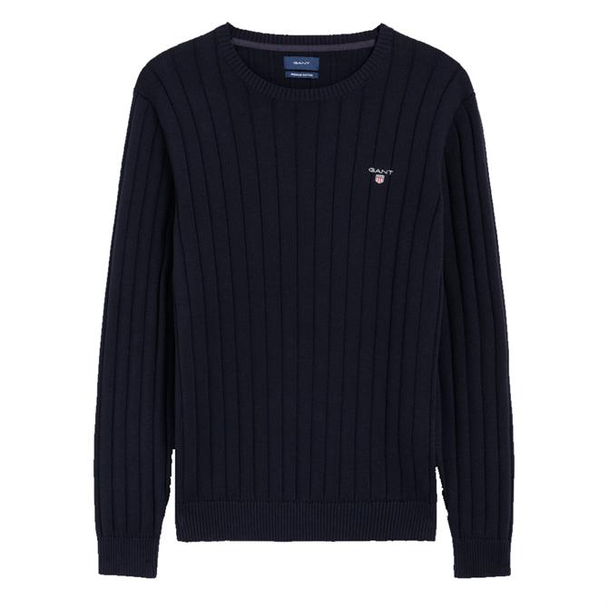 GANT Cotton Rib Crew Sweater