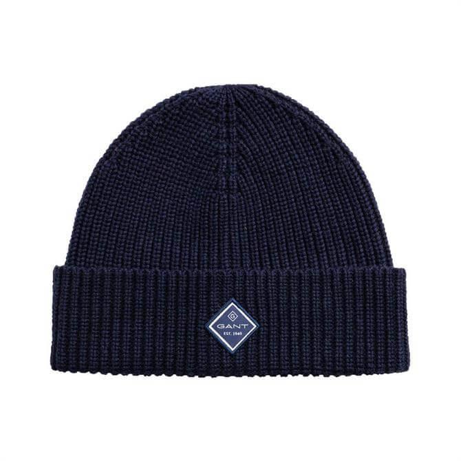GANT Cotton Rib Knit Hat