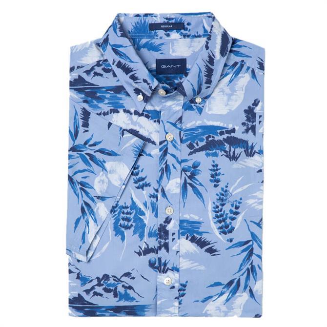 GANT Riviera View Print Short Sleeved Shirt