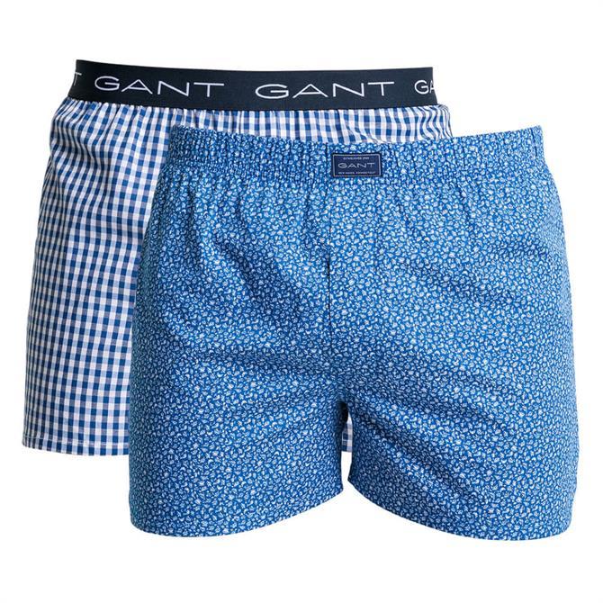 GANT 2-Pack Gingham French Morning Boxer Shorts