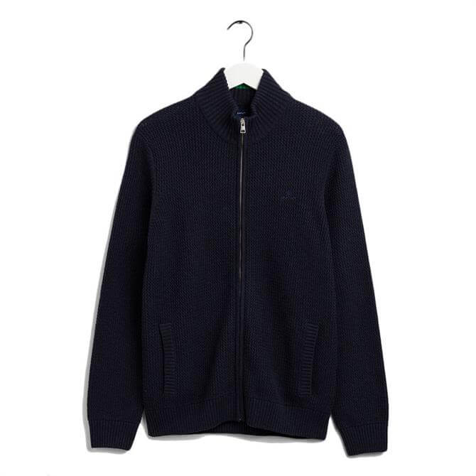 GANT Cotton Structured Zipped Sweater