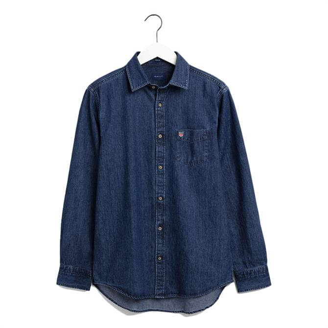 GANT Regular Fit Retro Shield Denim Shirt