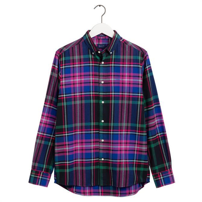 GANT Regular Fit Scaled-Up Flannel Shirt