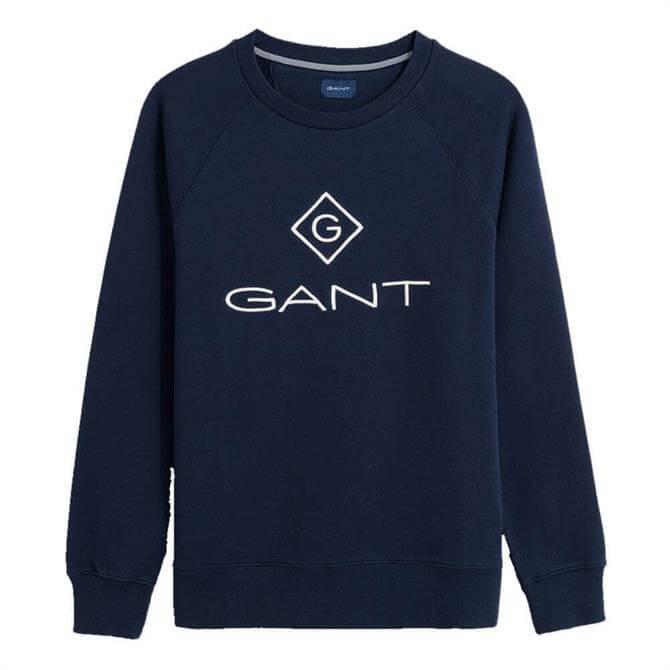 GANT Logo Crew Sweathshirt