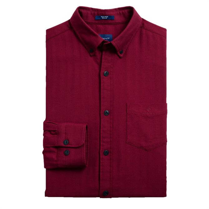 GANT Regular Fit Tech Prep Herringbone Shirt