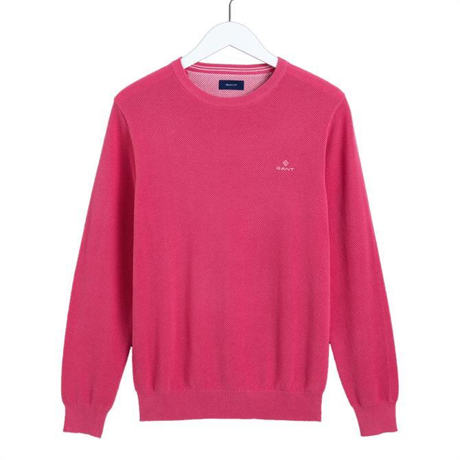 GANT Piqué Cotton Crew Neck Sweater