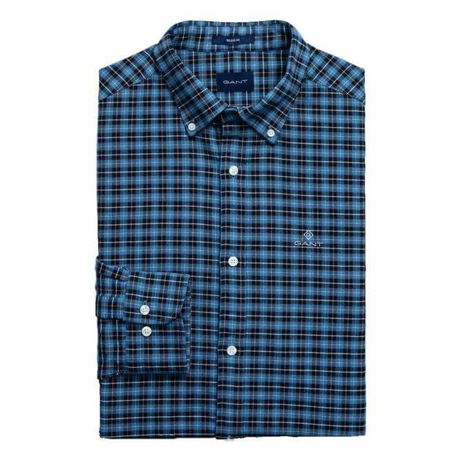GANT Regular Fit Check Brushed Oxford Shirt