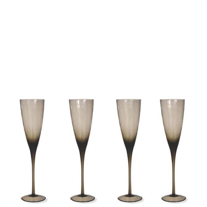 Garden Trading Berkeley Set of 4 Champagne Flutes