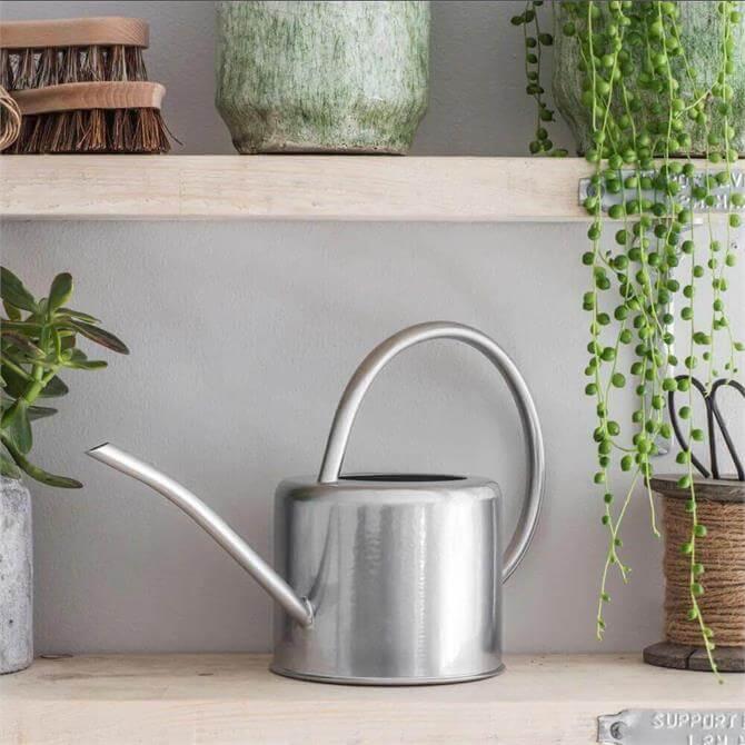 Indoor Watering Can Galvanised Steel 1.9L