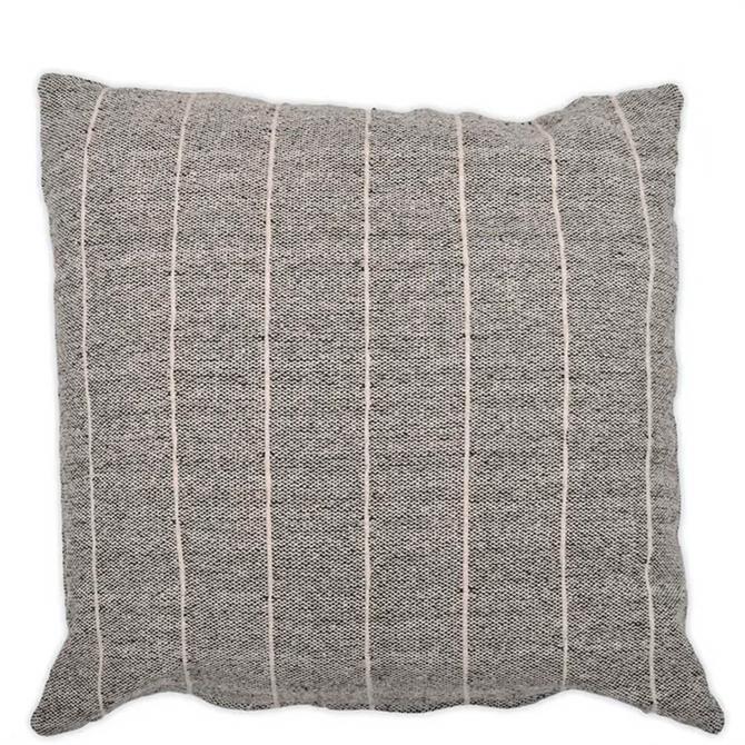 Garden Trading Grey Walberswick Large Stripe Cushion