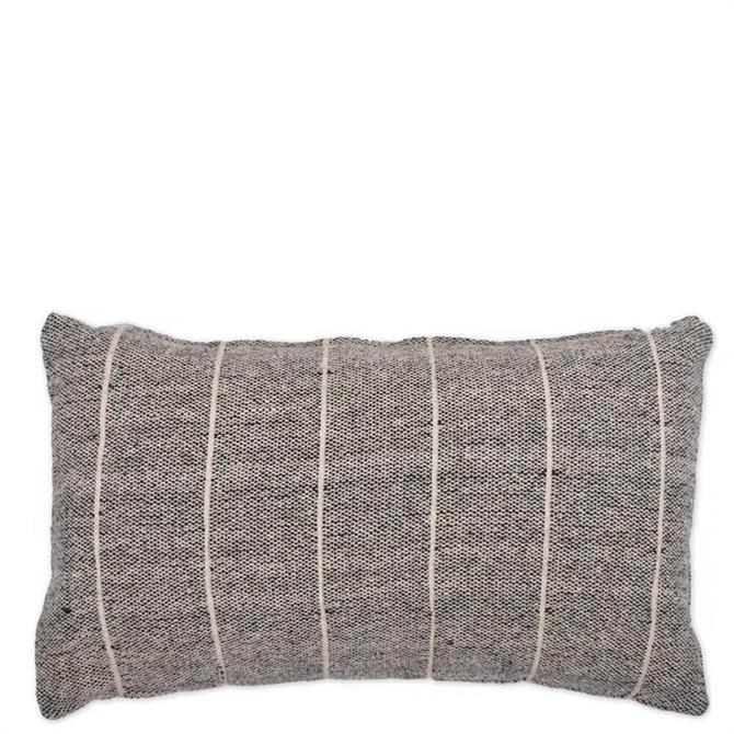 Garden Trading Grey Walberswick Rectangular Stripe Cushion