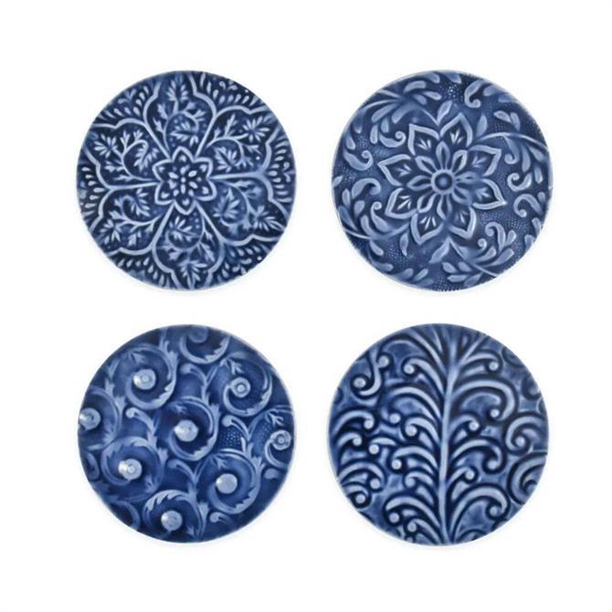 Fiskardo Coaster Set Of Four Blue