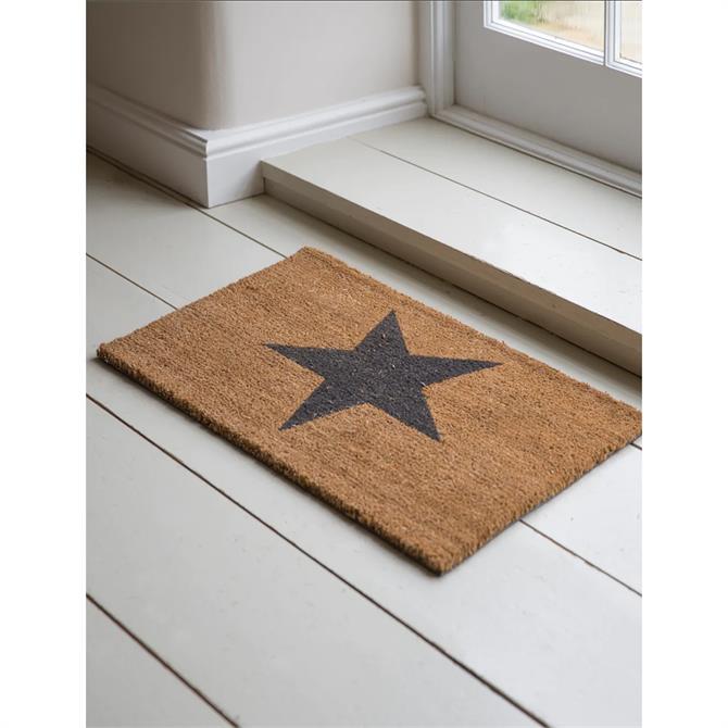 Natural Coir Star Doormat