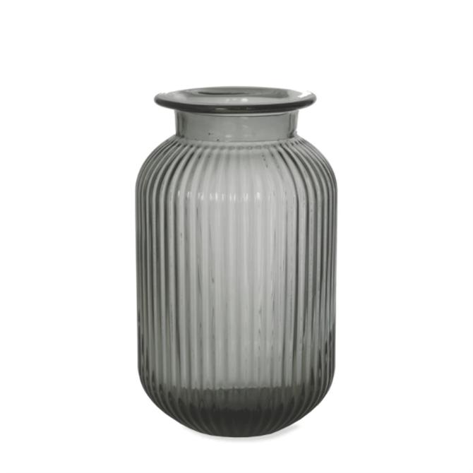 Garden Trading Glass Ribbed Vase Small