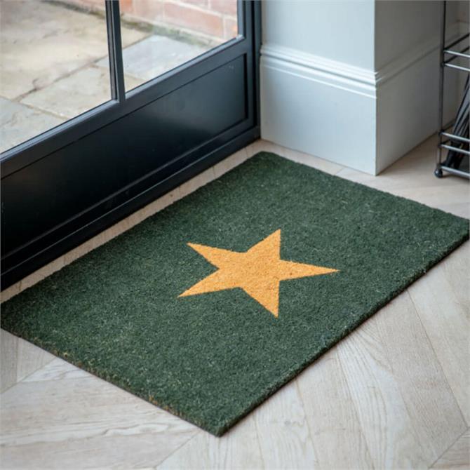 Garden Trading Star Doormat Large Forest Green