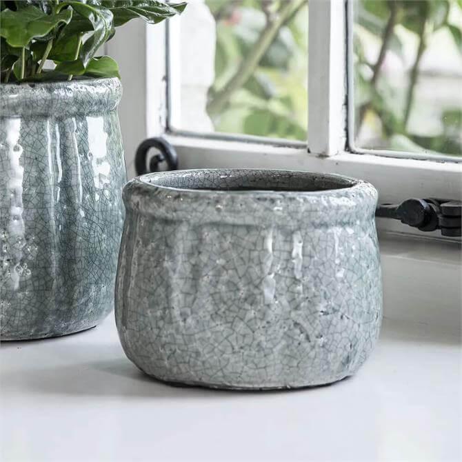 Garden Trading Minori Ceramic Pot Aqua