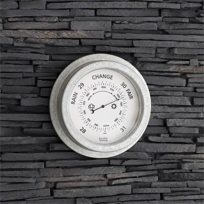 St Ives Barometer Galvanised Steel