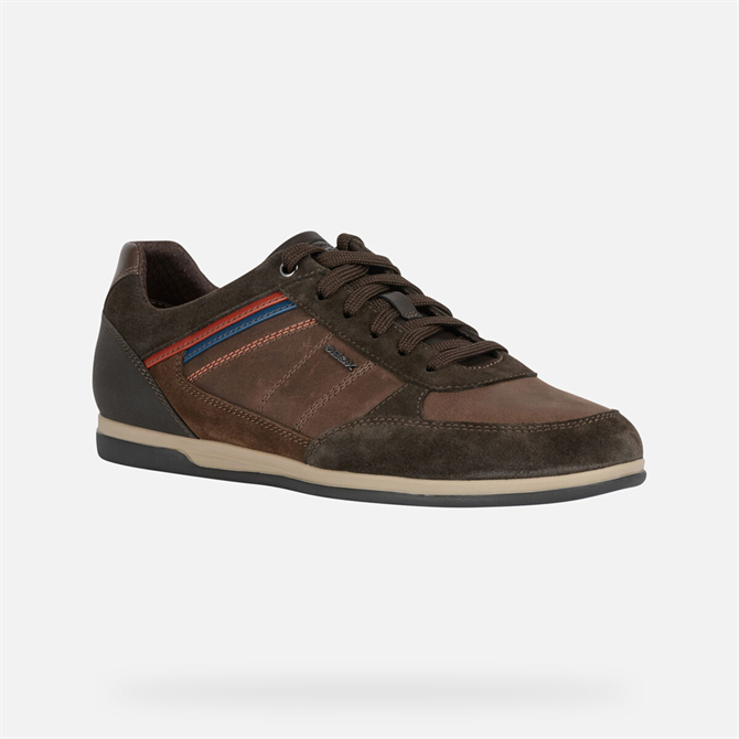 Goex Renan Trainers in Coffee & Brown