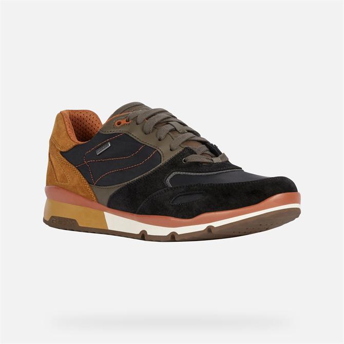 Goex Sandford ABX Sneakers in Black & Dark Olive