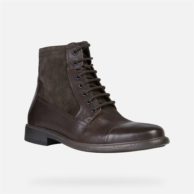 Geox Terence Ankle Boot in Coffee Brown