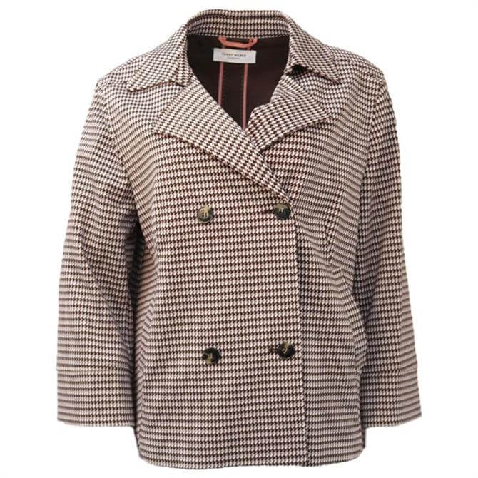 Gerry Weber Dogtooth Double Breasted Blazer