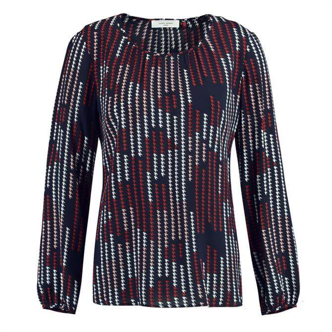 Gerry Weber Abstract Houndsooth Blouse