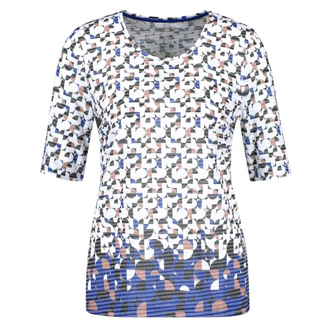 Gerry Weber Burnt Out Retro Pattern T-Shirt