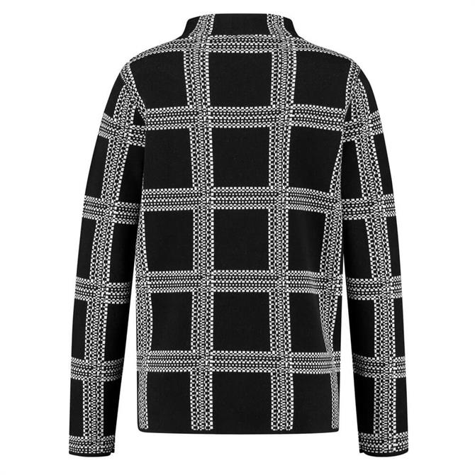 Gerry Weber Contrast Check Turtleneck Jumper