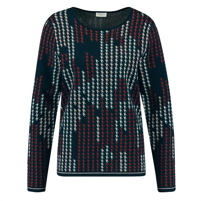 Gerry Weber Contrast Abstract Houndstooth Jumper