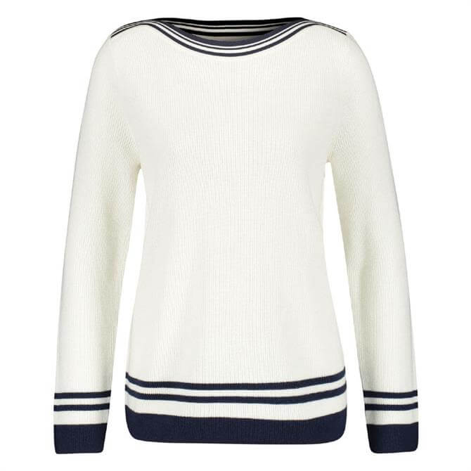 Gerry Weber Contrast Striped Boat Neck Sweater