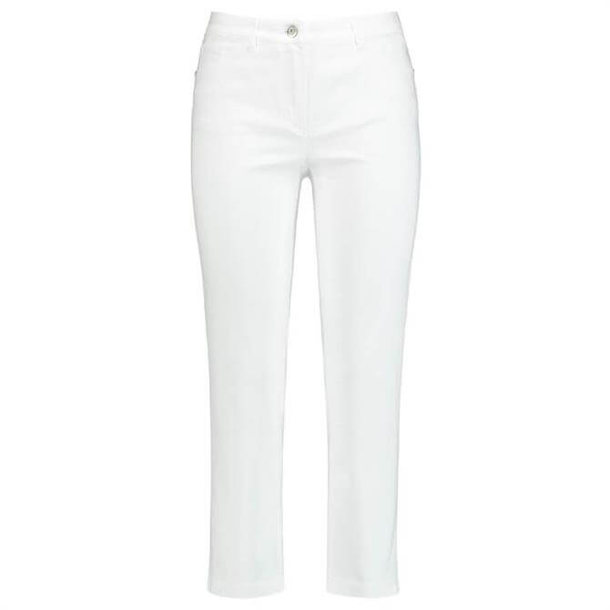 Gerry Weber Slim White Cropped Trousers