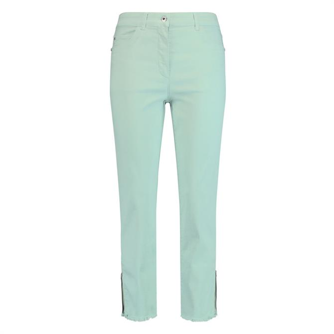 Gerry Weber Frayed Zipped Ankle Jeans