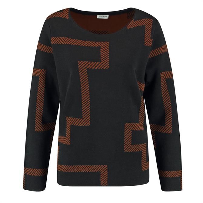 Gerry Weber Graphic Pattern Wool Mix Jumper