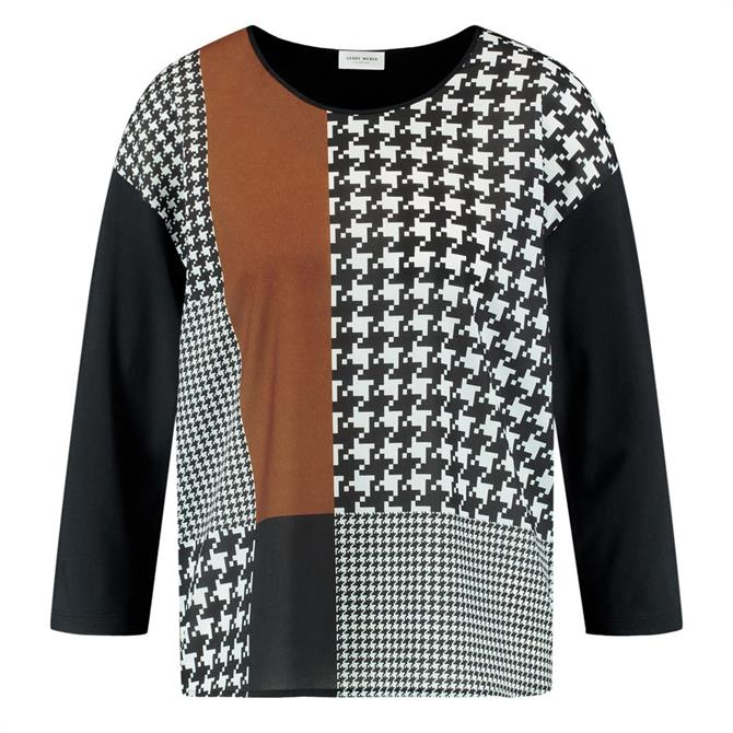 Gerry Weber Houndstooth Panelled Top