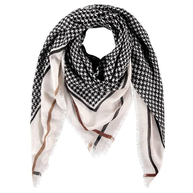 Gerry Weber Houndstooth & Stripe Pattern Scarf