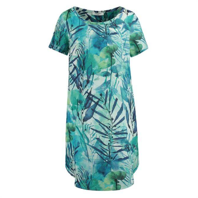Gerry Weber Water Leaf Print Linen Dress