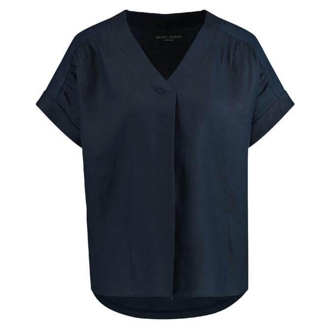 Gerry Weber Linen Blend V-Neck T-Shirt