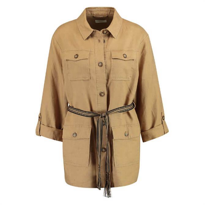 Gerry Weber Linen Safari Tie Belt Jacket