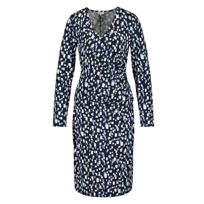 Gerry Weber Mixed Square Pattern Fitted Dress