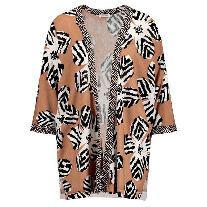 Gerry Weber Safari Print Oversized Knit Jacket