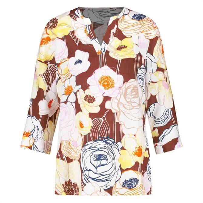 Gerry Weber Sketched Floral Linen Blouse